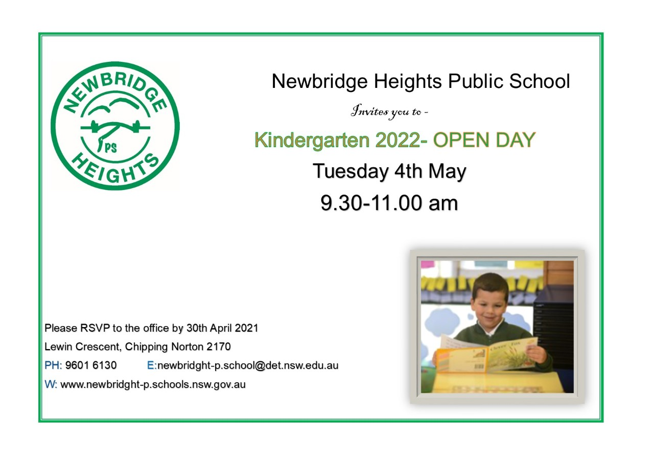 Invitation to Open Day